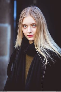 Nastya Kusakina by Jean Baptiste Soulliat  Alexis Mabille - Paris Fashion Week PAP AW 1617