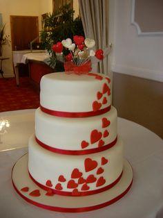 Hearts wedding cake, #wedding #cake