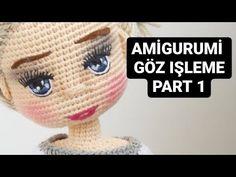 Eye Tutorial, Crochet Doll Pattern, Amigurumi Toys, Baby Knitting Patterns, Crochet Baby, Crochet Projects, Make It Yourself, Videos, Handmade
