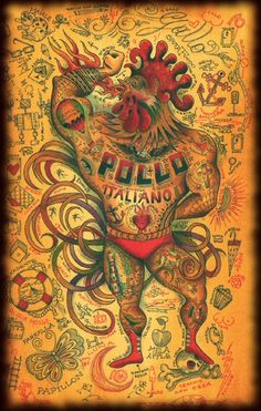 Pollo Chicano just cracked me up! Want to wrestle? Chicano Love, Tattoo Signs, Tattoo Care, Tatuagem Old School, Chicken Art, Flash Art, Large Art, Tattoo Shop, Traditional Tattoo