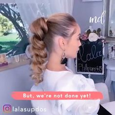 Amazing The post Amazing appeared first on Bunte Haar Diy. Ponytail Hairstyles, Pretty Hairstyles, Updo, Hair Due, Love Hair, Hair Videos, Hair Looks, Hair Inspiration, Hair Makeup