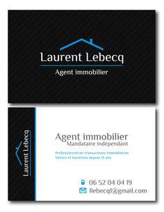 Cration De Carte Visite Pour Un Agent Immobilier 2015