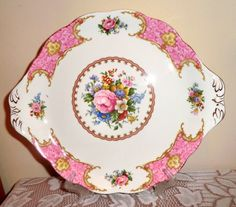 Royal Albert Lady Carlyle Cake Plate. Vintage by PrettyVintageHome
