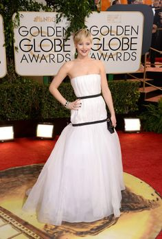 Jennifer Lawrence in Christian Dior at #GoldenGlobes