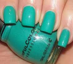 """Sinful Colors """"Rise and Shine.""""  Now on my fingernails.  Love."""