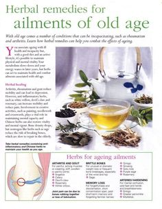 Mind, Body, Spirit Collection - Herbal Remedies For Ailments Of Old Age