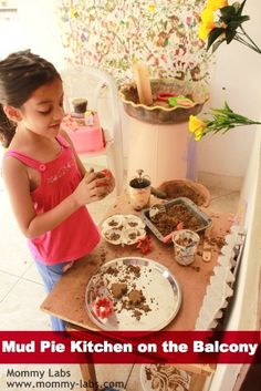 Even if you don't have a backyard, you can still set up an amazing mud pie kitchen that your child will loving playing with for hours! Check out ours to see some real fun ways to make the mud pie kitchen totally engaging and exciting - on a balcony! www.mommy-labs.com