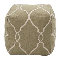 Infuse sophisticated pattern and color in the room with our Corona Pouf. The Morocco-inspired trellis pattern is hand-woven out of the finest wool by skilled artisans in India. Use it anywhere in the house - as casual seating around the coffee table, a play thing in the kids room, or add a tray on top for an instant side table.