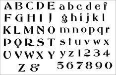 Edwardian Alphabet stencil from The Stencil Library catalogue. Buy stencils online. Stencil code 304-L.