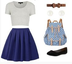Skirt and belt and backpack