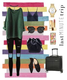 """Vacation!"" by elio-t on Polyvore featuring nuLOOM, T By Alexander Wang, Lacoste, Movado, Yves Saint Laurent, Wet Seal, Fendi and Perry Ellis"