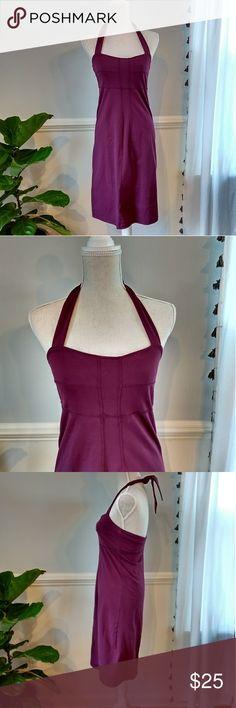 Athleta Halter Dress Athleta halter dress with shelf bra. In excellent condition. Athleta Dresses