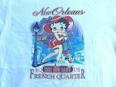ccc76c50 Betty Boop New Orleans Women's Graphic T-Shirt Adult Large C Port & Company  #CPortCompany #TShirt #Casual