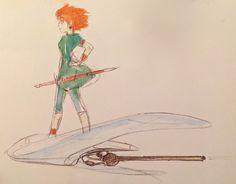 Period Drama Motif ===== The drawings Miyazaki accumulated between 1980-1982 formed the basis for the work of Nausicaa to Princess Mononoke; however, he added more science fiction elements to Nausicaa. ===== Sengoku Majo