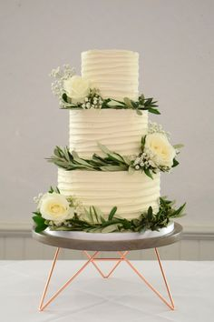 A selection of beautiful bespoke wedding cakes. Bake My Cake, Buttercream Fondant, Cake Gallery, Cornwall, Wedding Cakes, Table Decorations, Chocolate, Baking, Desserts
