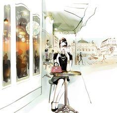 Sophie Griotto Illustration - Illustrations XXL pour les murs de lhôtel Rayz Suites (Paris, quartier Vendôme)