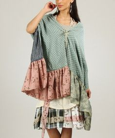 Another great find on #zulily! Green Polka Dot Ruffle Wrap by Ian Mosh #zulilyfinds