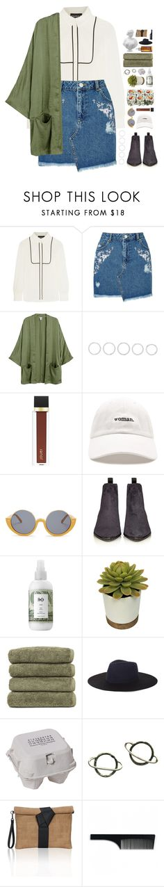"""feliz como una lombriz."" by messyqueen ❤ liked on Polyvore featuring Boutique Moschino, Miss Selfridge, Luv Aj, Jouer, Forever 21, Marni, Acne Studios, R+Co, Linum Home Textiles and BCBGMAXAZRIA"