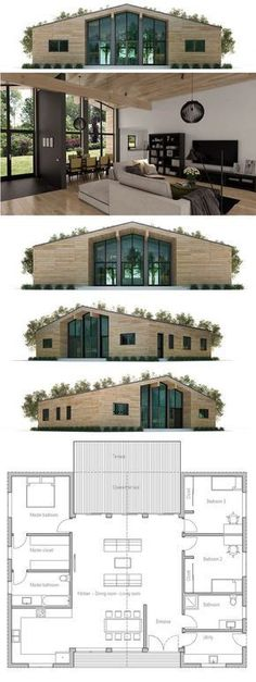 Container House - House Plan - really like this very efficient use of space - no endless narrow hallways! - Who Else Wants Simple Step-By-Step Plans To Design And Build A Container Home From Scratch? Building A Container Home, Container Buildings, Storage Container Homes, Bungalows, House Floor Plans, House Plans Design, A Frame Floor Plans, Modern Bungalow House Plans, A Frame House Plans