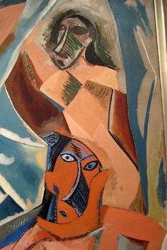 """Les Demoiselles d'Avignon, Paris, June-July 1907Oil on canvas, 8' x 7' 8""""Pablo Picasso (Spanish, 1881-1973)"""