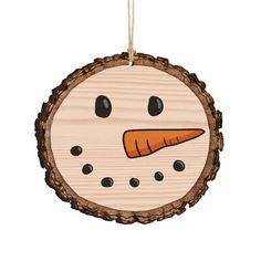 The Holiday Aisle Snowman Barky Ornament The Holiday Aisle This ornament resembles the look and feels of an actual sliced log. Each ornament is printed on both sides with inspirational designs and sentiments. Wooden Christmas Decorations, Painted Christmas Ornaments, Wooden Ornaments, Christmas Ornaments To Make, Christmas Diy, Snowman Ornaments, Wooden Christmas Crafts, Homemade Christmas Crafts, Farmhouse Christmas Ornaments Diy