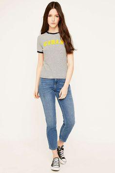 Truly Madly Deeply - T-shirt Girls bleu marine rayé à liserés