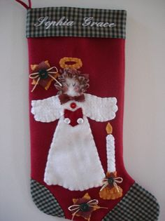 Christmas stockings for sale. Dog Christmas Stocking, Cat Christmas Stocking, and More! Cat Christmas Stocking, Christmas Cats, Christmas Angels, Handmade Christmas, Christmas Stockings, Merry Christmas, Handmade Angels, Fall Recipes, Sewing Projects
