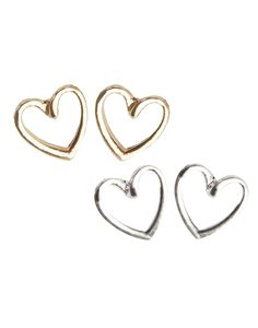 Aspire Style open heart earrings