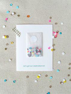 Celebrate Confetti Card von haveandholddesign auf Etsy, $6.00