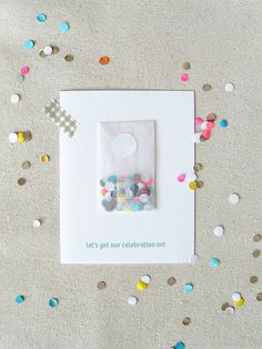 Celebrate Confetti Card (Set of 5)