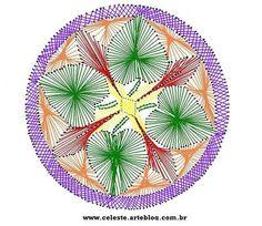 Blog de celeste :Minhas  Artes  Diversas, Mandala ( bordar no papel)