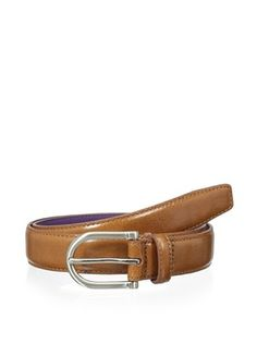 53% OFF Ike Behar Men's 30mm Feather Edge Belt (Tan)