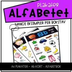 Alfabetplakater Teaching, Education, First Class, Poster, Onderwijs, Teaching Manners, Learning, Learning