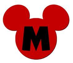 Lindo alfabeto de la cabeza de Mickey.   Oh my Alfabetos!