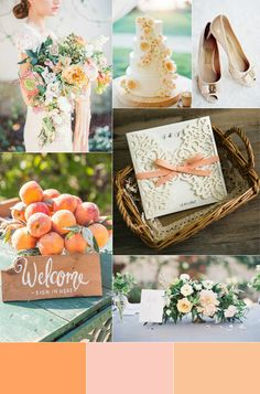 whimiscal garden wedding ideas with peach color palettes