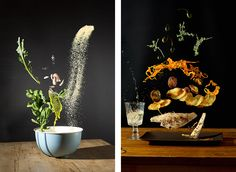 Nora Luther Photographs Recipes As Dynamic, Floating Ingredients http://noraluther.com