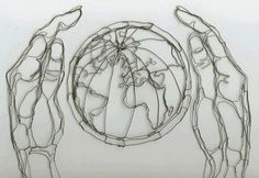 Wire Sculpture Artist Single Wire | ... Class Wire Sculpture by Elizabeth Berrien - Wire Wall Art and Murals