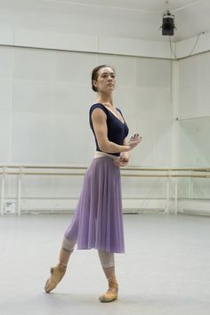 Tierney Heap as Myrtha in rehearsal for Giselle, The Royal Ballet © 2016 ROH. Photo by Andrej Uspenski