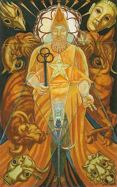 Aleister Crowley Thoth Tarot- V - The High Priest
