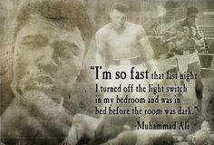 My daddy loved Muhammad Ali :)