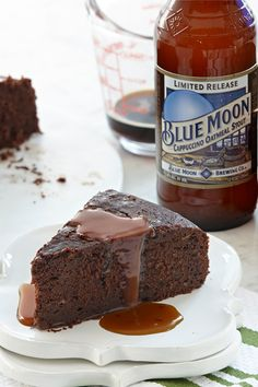 Rich dark stout plays a starring role in both the cinnamon-spiced chocolate cake and vanilla caramel sauce. This beer flavored salted caramel dessert is a delicious way to end any meal.
