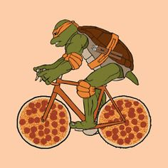 TMNT on bike!! #gif