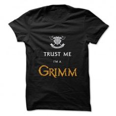Trust me I'm a Grimm t shirt. Grimmsters. Nick Burkhardt. Theresa Trubbel.