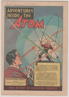 Adventures Inside the Atom 1.  VF.  1948.  by RubbersuitStudios, $45.00 #generalelectric #comicbooks