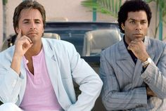 If it weren't for Crockett and Tubbs, no one would have thought to pair a pink T-shirt with an Armani jacket.