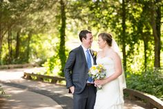 Blue & Yellow Wedding in DC on Borrowed & Blue.  Photo Credit: Lovesome…