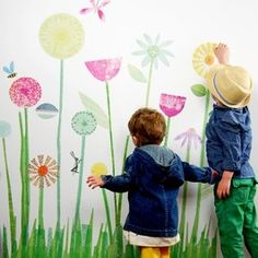 3 My garden mural - Kids Wall Stickers, Nursery Wall Decals + fun room accessories! - Leafy Dreams Nursery Decals