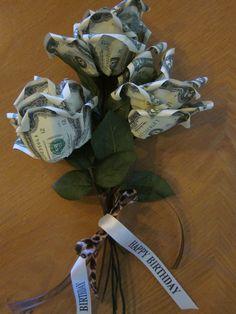 Birthday money bouquet