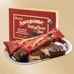 Awesome Nut and Chew Bars from See's Candy- the name says it all