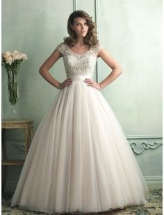 Organza with cap sleeve and gorgeously beaded bodice Wedding  Dress
